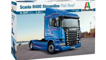 SCANIA R400 STREAMLINE Flat Roof (1:24) Model Kit Truck 3947 - Italeri