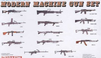 MODERN MACHINE GUN SET Model Kit 3806 - Dragon