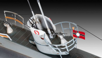 ModelSet ponorka 65155 - German Submarine Type IIB (1943) (1:144)