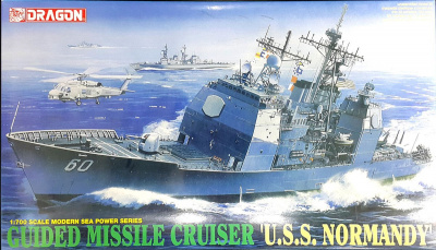 "Model Kit loď 7023 - GUIDED MISSILE CRUISER ""U.S.S. NORMANDY"" (1:700)"