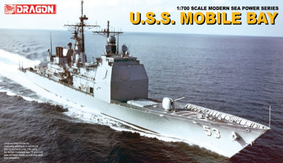 Model Kit loď 7035 - U.S.S. MOBILE BAY (1:700)