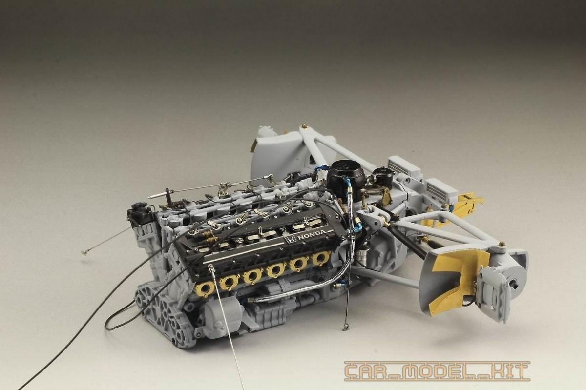 MP4/6 Engine Super Detail-up Set 1/12 - Top Studio | Car-model-kit com