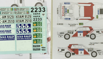 Toyota Celica TA64 1986 Hong Kong - Beijing Rally conversion 1/24 - MSM Creation