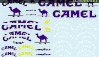 Camel and Goodyear decals for Lotus 99T 1/20 - MSM Creation