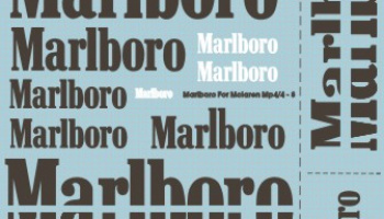 Marlboro Decal for 1/20 McLaren MP4/4 ~ MP4/8 - MSM Creation