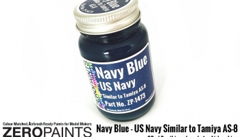 Navy Blue (US Navy) Similar to Tamiya AS-8 - Zero Paints