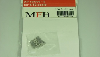 Metal rivet series No.15 Air valves-Large - Model Factory Hiro