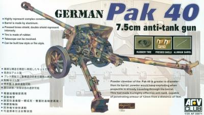 Pak 40 75mm Anti-tank Gun (1:35) - AFV Club | Car-model-kit com