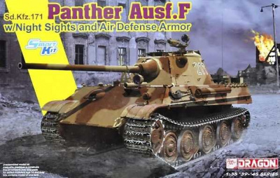 Panther Ausf.F w/Night Sight and Air Defense Armor (1:35) Model Kit 6917 - Dragon