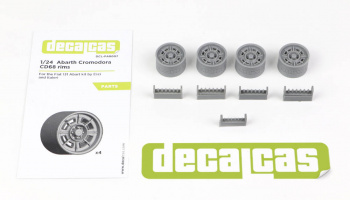 Fiat 131 Abarth Cromodora CD68 Rims - Decalcas