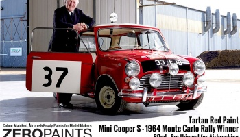 Mini Cooper S - 1964 Monte Carlo Rally Winner Tartan Red - Zero Paints