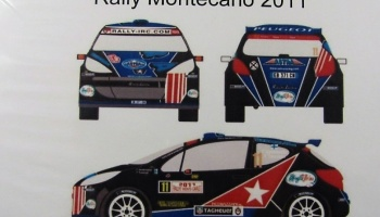 Peugeot 207 S2000 #11 Rally Montecarlo 2011 - Racing Decals 43