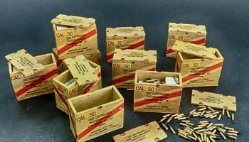 1/32 US ammunition boxes with cartons of charges