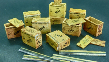 1/48 US ammunition boxes with belts of charges