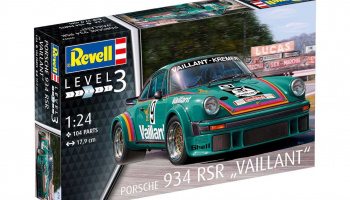 "Porsche 934 RSR ""Vaillant"" (1:24) Plastic Model Kit 07032 - Revell"