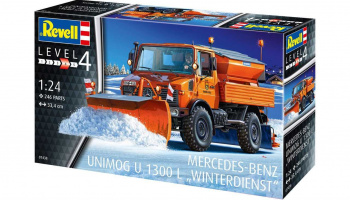 Mercedes-Benz Unimog U1300L Winter Service (1:24) Plastic Model Kit 07438 - Revell