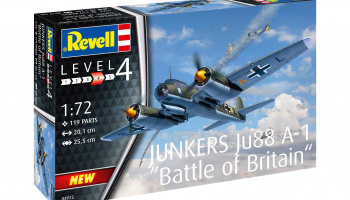 Junkers Ju88 A-1 Battle of Britain (1:72) Plastic ModelKit letadlo 04972 - Revell