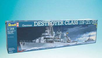 German DESTROYER CLASS 119 (Z1/Z5) (1:144) Plastic Model Kit 05097 - Revell
