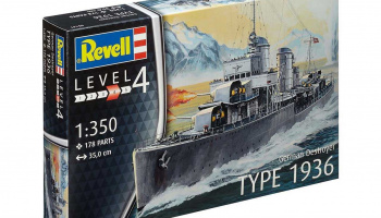 German Destroyer Type 1936 (1:350) Plastic Model Kit 05141 - Revell