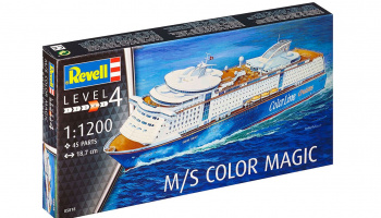 Plastic ModelKit loď 05818 - M/S Color Magic (1:1200)