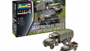 M34 Tactical Truck & Off Road Vehicle (1:35) Plastic ModelKit military 03260 - Revell