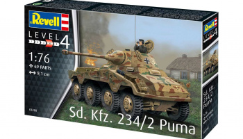 Sd.Kfz. 234/2 Puma (1:76) Plastic Model Kit 03288 - Revell