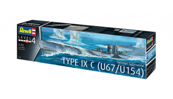 German Submarine Type IXC U67/U154 (1:72) Plastic Model Kit 05166 - Revell