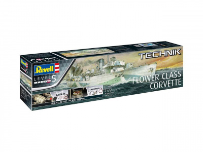 Plastic ModelKit TECHNIK loď 00451 - Flower Class Corvette (1:72)