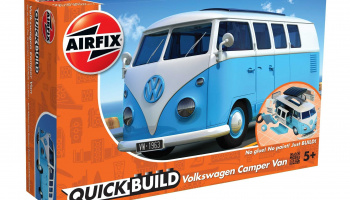 Quick Build auto J6024 - VW Camper Van - modrá