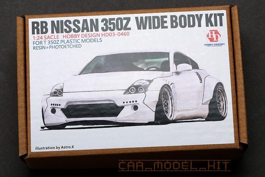 RB Nissan 350Z Wide Body Kit For 350Z Plastic Models - Hobby