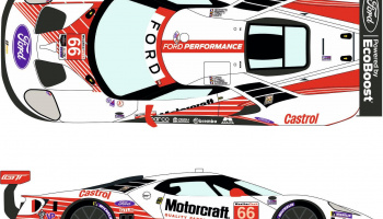 Ford GT LM #66 Motorcraft Rolex 24h Daytona 2019 - Racing Decals 43