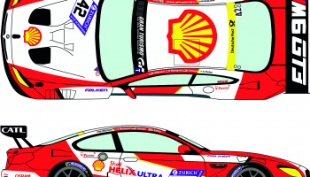 BMW M6 GT3 42 Zurich 24h of Nurburgring 2017 1/24 - Racing Decals 43