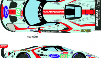 "Ford GTLM #69 ""Ford Chip Ganassi Team USA"" 24h Le Mans 2019 - Racing Decals 43"