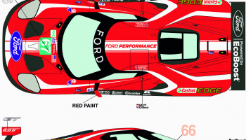 "Ford GTLM #66/67 ""Ford Chip Ganassi Team UK"" 24h Le Mans 2019 - Racing Decals 43"