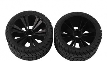 REVELL - REVELLUTIONS (47212) - Set 2x Front Wheel for Muscle Car, black