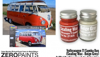 Volkswagen T1 Samba Bus (Sealing Wax - Beige Grey) 2x30ml - Zero Paints