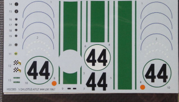 Type 47GT #44 LM (1967) - Spare decal for HSC005 - Studio27