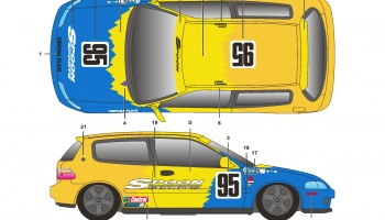 Honda Civic EG6 Spoon - SKDecals