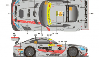 Mercedes-Benz AMG GT FIA GT World Cup Macau 17 - SKDecals
