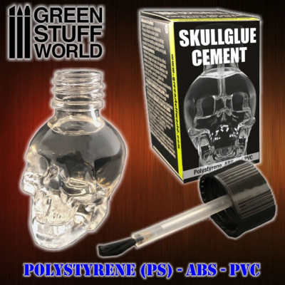 SkullGlue Cement for plastics 15ml - Green Stuff World