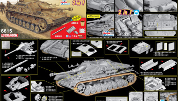 StuG.IV Early Production (2 in 1) (1:35) Model Kit tank 6615 - Dragon