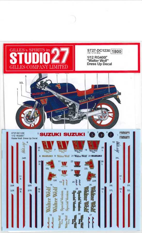 STUDIO 27 1//12 SUZUKI RG400 WALTER WOLF DRESS UP DECAL for HASEGAWA
