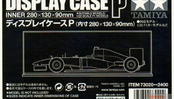 DISPLAY CASE P (280X130X90mm) 1/20 Cars - Tamiya