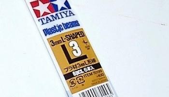 Tamiya 70199 Plastic Beams 3mm L-Shaped 6pcs