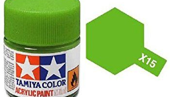 X-15 Light Green 10ml Acrylic Paint Mini X15 - Tamiya