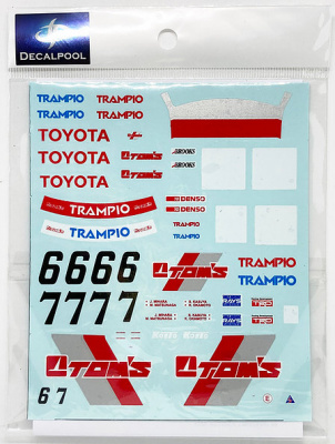 Toyota Levin AE92 TOM'S #6/7 Group A '90 1/24  - Decalpool