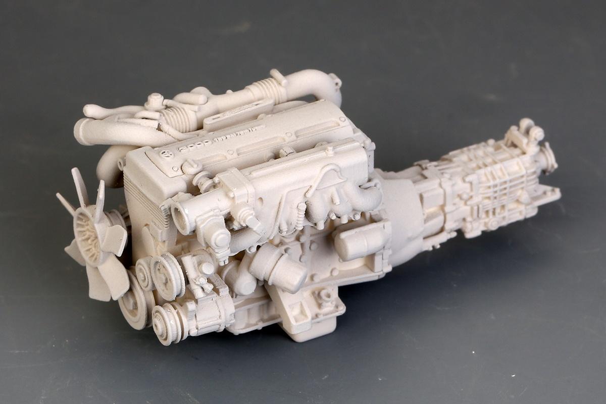 Acrylic Enamel Paint >> Toyota Supra 2JZ Engine Kit - Hobby Design | Car-model-kit.com