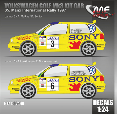 VW Golf MK3 Kit Car Manx International Rally 1997 #3 McRae, #6 Laukkanen - MF-Zone