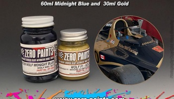 Walter Wolf Racing F1 Midnight Blue 60ml and 30ml Gold - Zero Paints