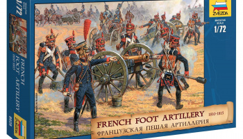 Wargames (AoB) figurky 8028 - French Foot Artillery 1812-1814 (1:72) - Zvezda